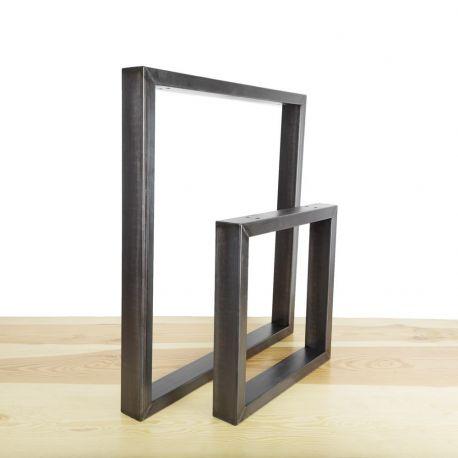 Pied carré en acier sur mesure - L'Intrépide Ripaton