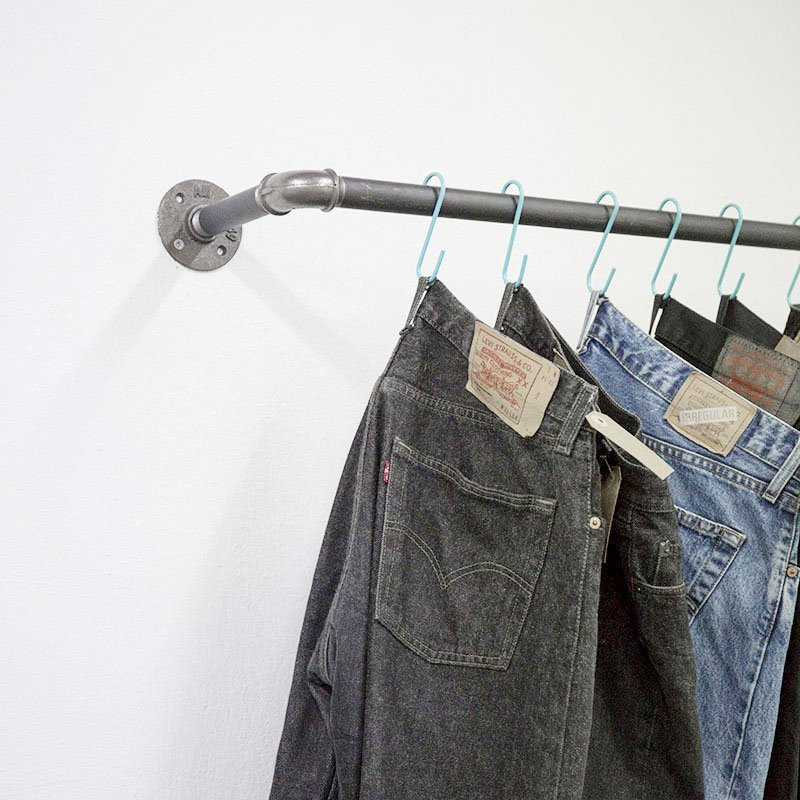 SUSPENDED CLOTHES DARK STEEL RAIL - THE ADROIT