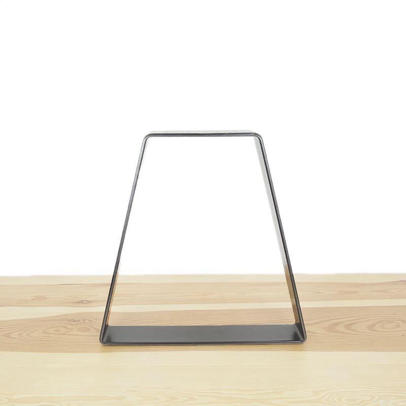 """The Raffiné"" dark steel leg for table or bench"