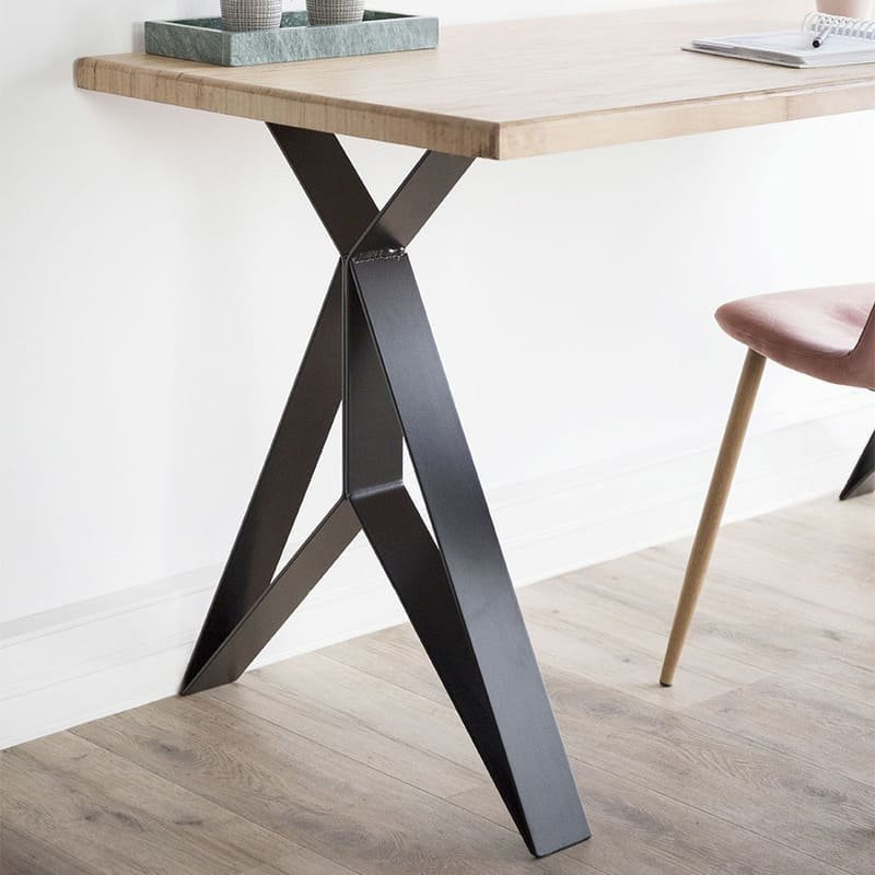 Pied Metal Pour Table.The Adventurer Steel Table Leg