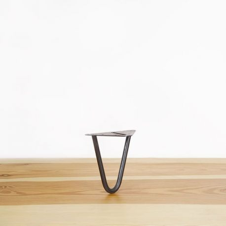 """Le Cascadeur"" Raw steel leg for skateboard or bench"