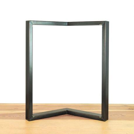 """Le Cascadeur"" Raw steel leg for skateboard or bench"